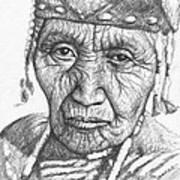 Klamath Woman Art Print