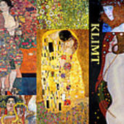 Klimt Collage Art Print