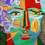 Klimt Face Art Print by Diane Fine