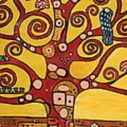 Klimt Study Tree Of Life Art Print