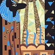 Klimt's Paper Anubis Art Print