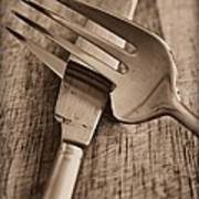 Knife And Fork Art Print