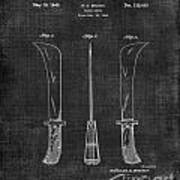 Knife Patent 1942 005 Art Print