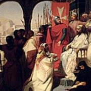 Knights Of The Order Of St John Of Jerusalem Restoring Religion In Armenia Art Print