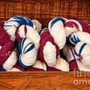Knitting Yarn In Patriotic Colors Art Print
