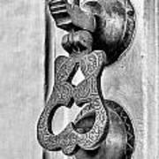 Knock Knock - Bw Art Print