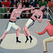 Knock Out Art Print by Jerzy Marek