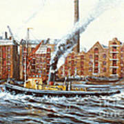 Knocker White Sailing Down River Past Rotherhithe Art Print
