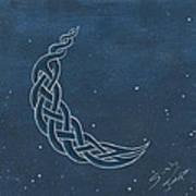 The Knotty Moon Art Print
