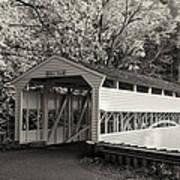 Knox Covered Bridge In Sepia Art Print