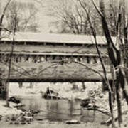 Knox Valley Forge Covered Bridge Art Print