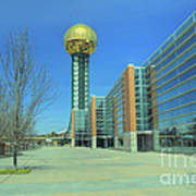 Knoxville Tn Sunsphere Hdr Art Print