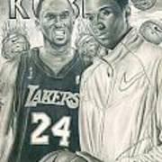 Kobe Bryant Print by Kobe Carter