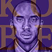 Kobe Bryant Lakers' Purple Art Print by Rabab Ali