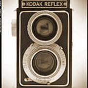 Kodak Reflex Camera Art Print by Mike McGlothlen
