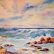 Kohala Coast Surf Art Print