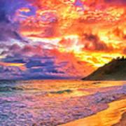 Kohala Sunset Art Print
