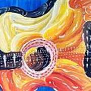 Koi Guitar Art Print