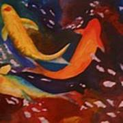 Koi In Deep Water Art Print