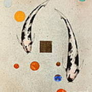 Koi Universe Utsuri Mono Painting Art Print