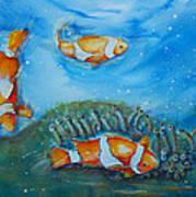 Koi's On The Reef Art Print