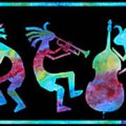 Kokopelli Jazz Trio Art Print