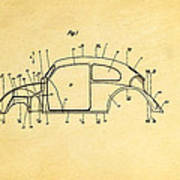 Komenda Vw Beetle Body Design Patent Art 1944 Art Print by Ian Monk