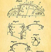 Komenda Vw Beetle Body Design Patent Art 1945 Art Print by Ian Monk