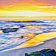 Kona Coast Sunset Art Print