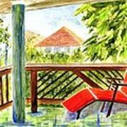 Kona View From The Deck Art Print