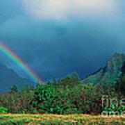 Koolau Mountains And Rainbow Art Print