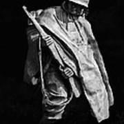 Korean War Veterans Memorial Rifleman Art Print