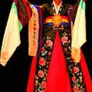 Korean Woman Dancer Art Print