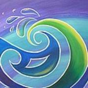 Koru Surf Art Print by Reina Cottier