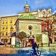 Krakow Main Square Old Town  Art Print