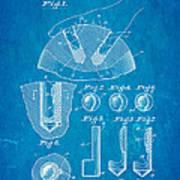 Kramer Bowling Bowl Finger Hole Insert Patent Art 1949 Blueprint Art Print