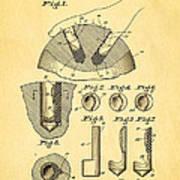 Kramer Bowling Bowl Finger Hole Insert Patent Art 1949 Art Print