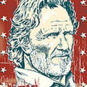 Kris Kristofferson Pop Art Art Print