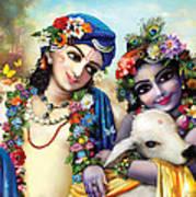 krishna-Balarama Art Print