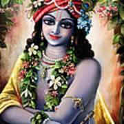 Krishna -forest Boy Art Print