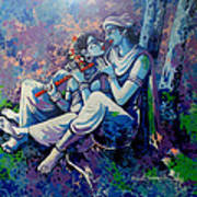 Krishna Radha Art Print