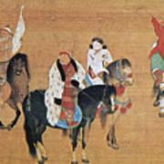 Kublai Khan Hunting Art Print