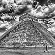 Kukulcan Pyramid V2 Art Print