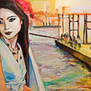 Kuralai Is Waiting. Bangkok Sunset. Art Print