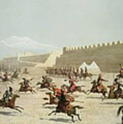 Kurdish And Tatar Warriors At Sadar Art Print