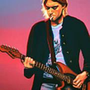 Kurt Cobain In Nirvana Painting Art Print