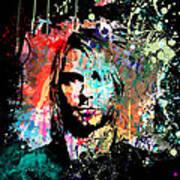 Kurt Cobain Portrait Art Print