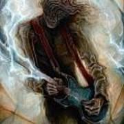 Kurt Cobain Zombie Art Print