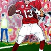 Kurt Warner-in The Zone Art Print by Bill Manson