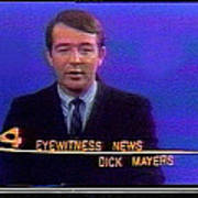 Kvoa Tv Anchorman Interviewer Writer Photographer Dick Mayers Screen Capture Collage Circa 1965-2011 Art Print